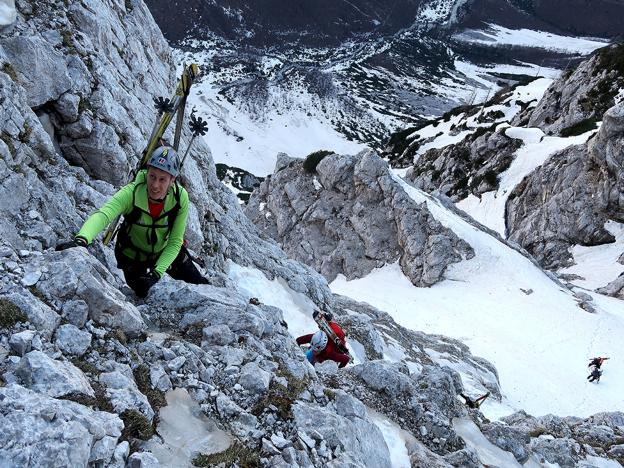 Slovene route in Triglav north wall-winter climb