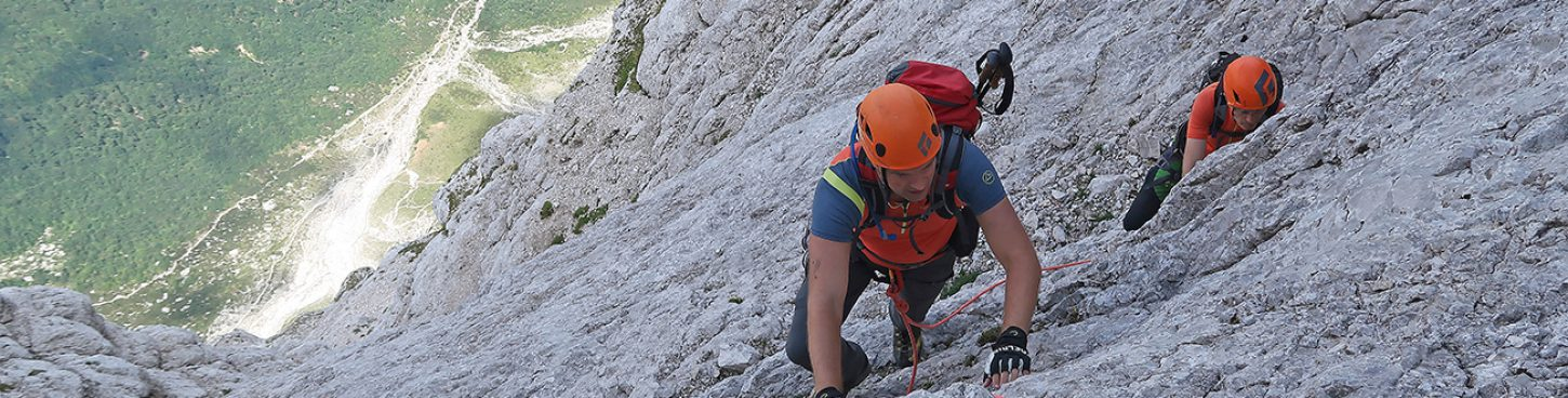 German route in Triglav north wall