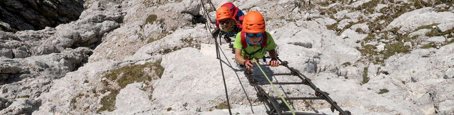 Via ferrata Jof di Montasio-Pipans ladder-Julian Alps