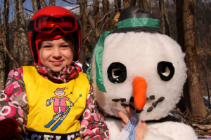 Snowman-skiing -course-winter-holidays 1